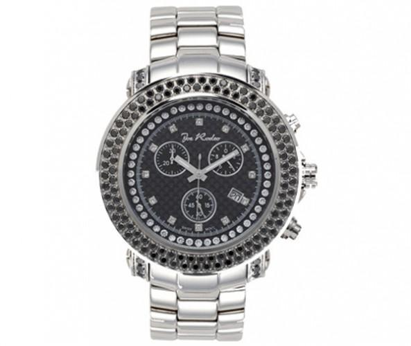 4.75ct Black Diamond 316L Steel Joe Rodeo Watch