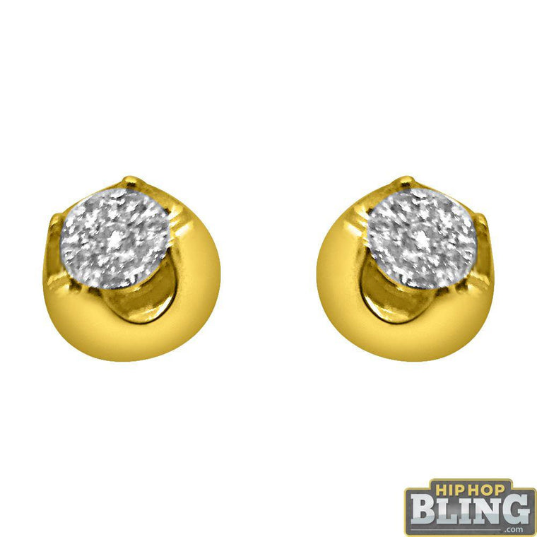 .24cttw Solitaire Illusion 14K Yellow Gold Earrings