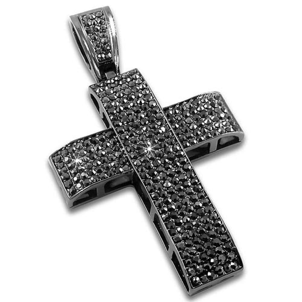 Thick Cross Hematite Pendant