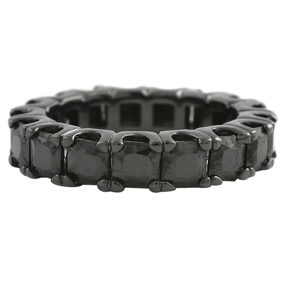 Princess Eternity Black CZ Bling Bling Ring