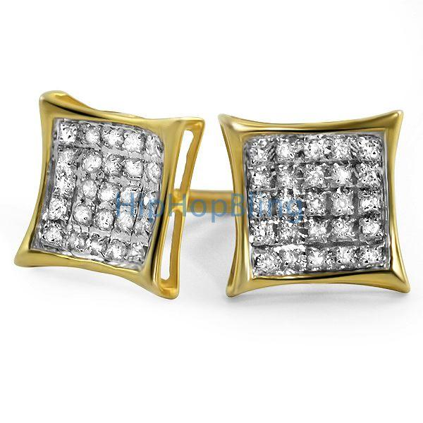 .15ct Diamond Kite Earrings Gold Vermeil