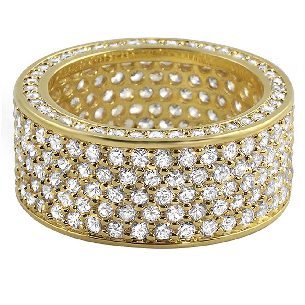 360 Gold Eternity CZ Bling Bling Ring