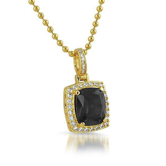 Lab Black Diamond Bling Bling Pendant