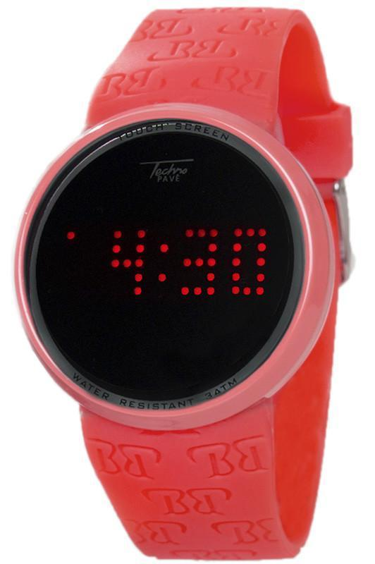 Touch Screen Digital Watch in Red