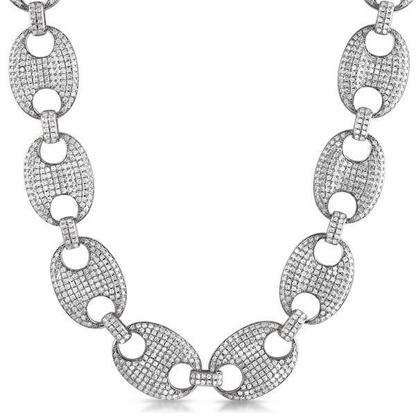 Bling Bling Chain .925 Silver Marine Link 24MM CZ Rhodium