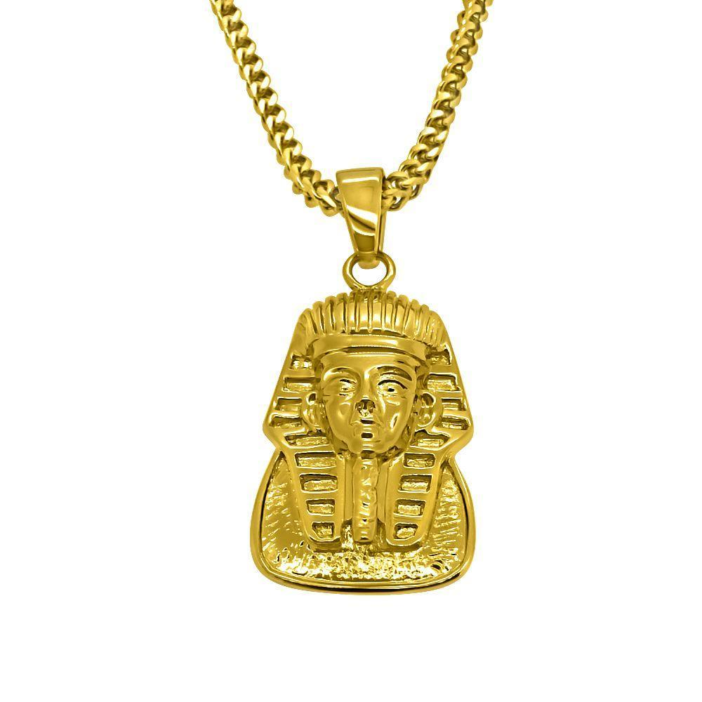HipHopBling Gold Egyptian Pharaoh Pendant