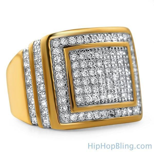 Step Up Gold CZ Ring