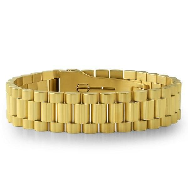 Gold Presidential Bracelet with Watch Buckle