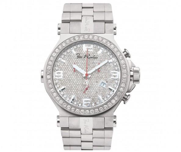 Full Diamond Dial & Bezel Joe Rodeo Phantom Watch 8.75 Carats