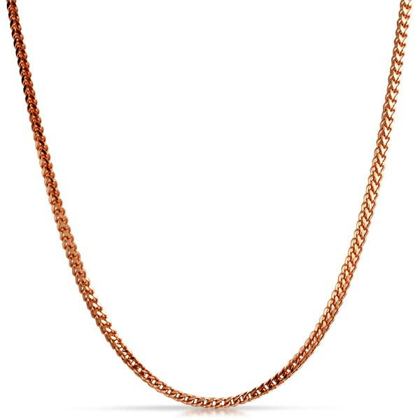 Franco Chain 2.5MM Rose Gold Stainless Steel