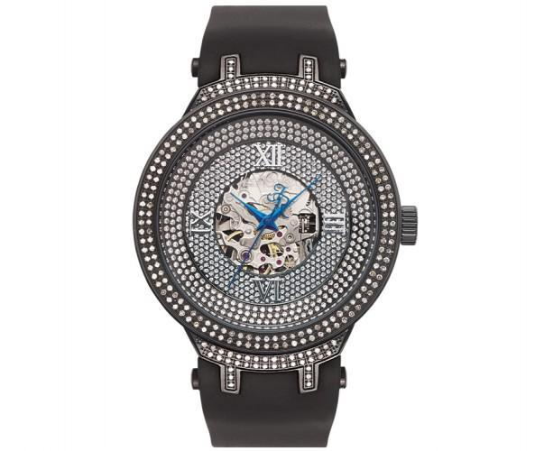 Black Skeleton Joe Rodeo Watch with 2.20ct Diamonds
