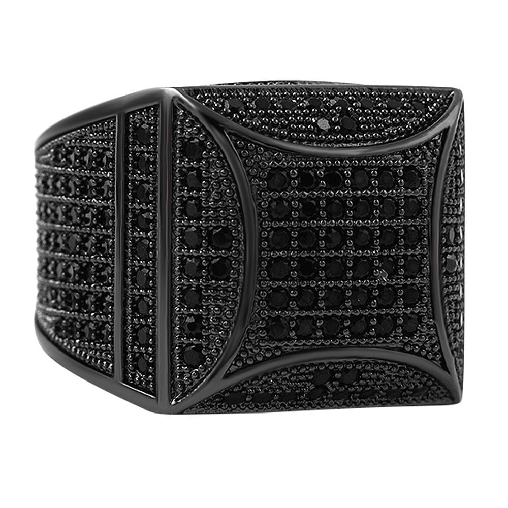 Kite Box Bling Bling Black CZ Micro Pave Ring