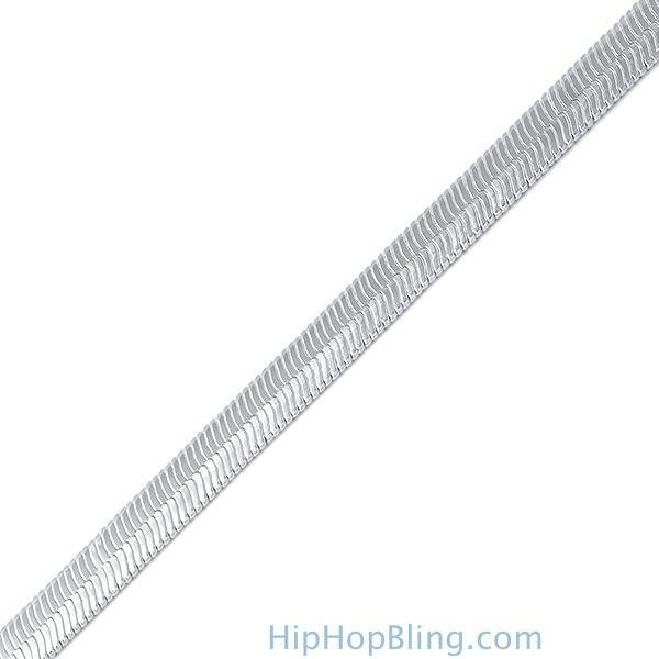 Herringbone 6mm Silver Plated Bracelet