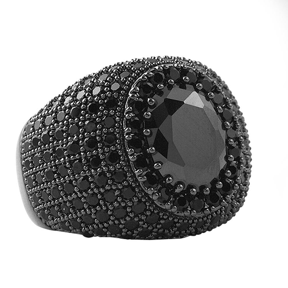 Masterpiece Black CZ Bling Bling Ring
