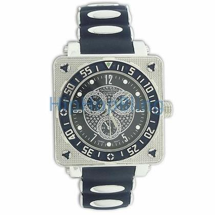 Circle in Cube Blue Hip Hop Watch