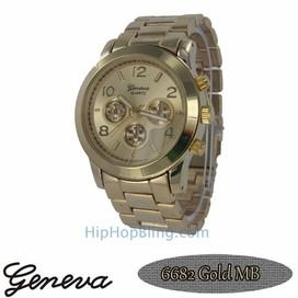 Classic Techno Pave Watch Gold