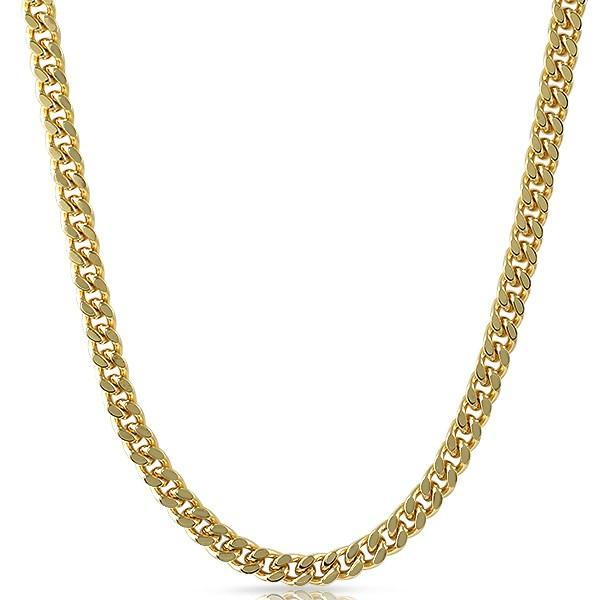 Cuban Box Chain Gold Plated Necklace 7MM