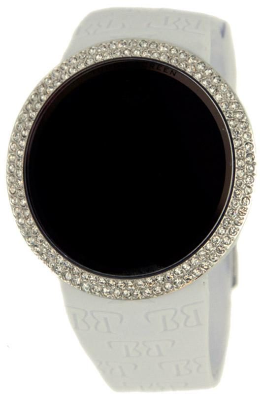 White Touch Screen Digital Watch Bling Bling