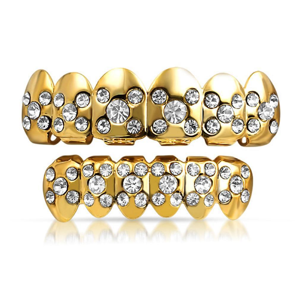 Gold Grillz X Bling Top Bottom Set