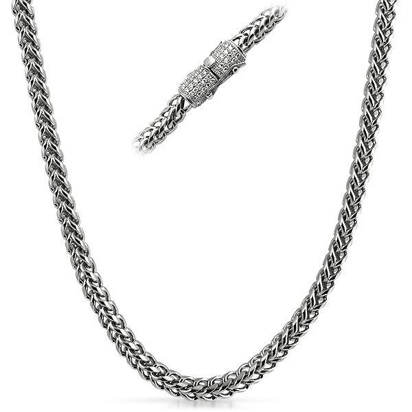 Real Diamond 6MM Stainless Steel Franco Chain