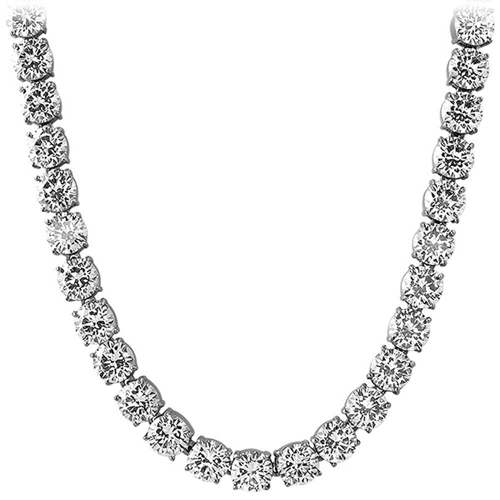 10MM Huge CZ Steel Never Fade Bling Bling Tennis Chain