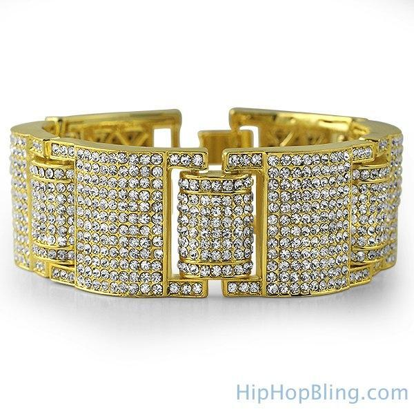 Gold Godfather Bling Hip Hop Bracelet