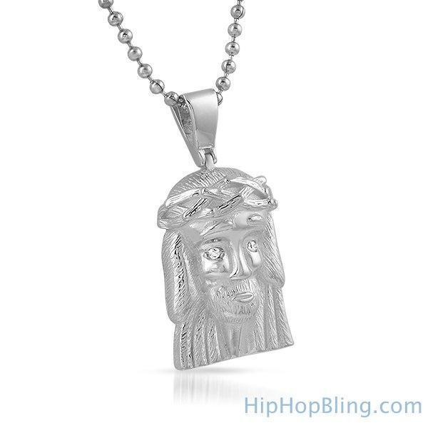 Clean Micro Jesus Piece Pendant .925 Sterling Silver