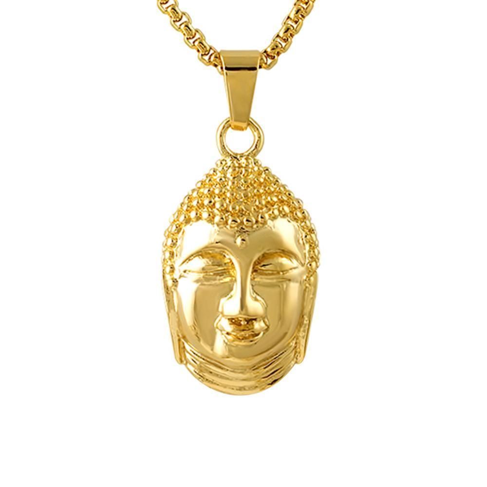 Gold Thai Buddha Pendant Stainless Steel
