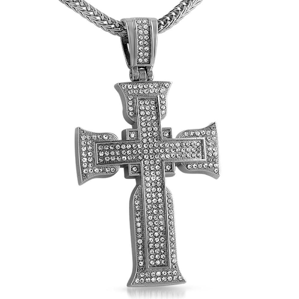 Designer Rhodium Cross
