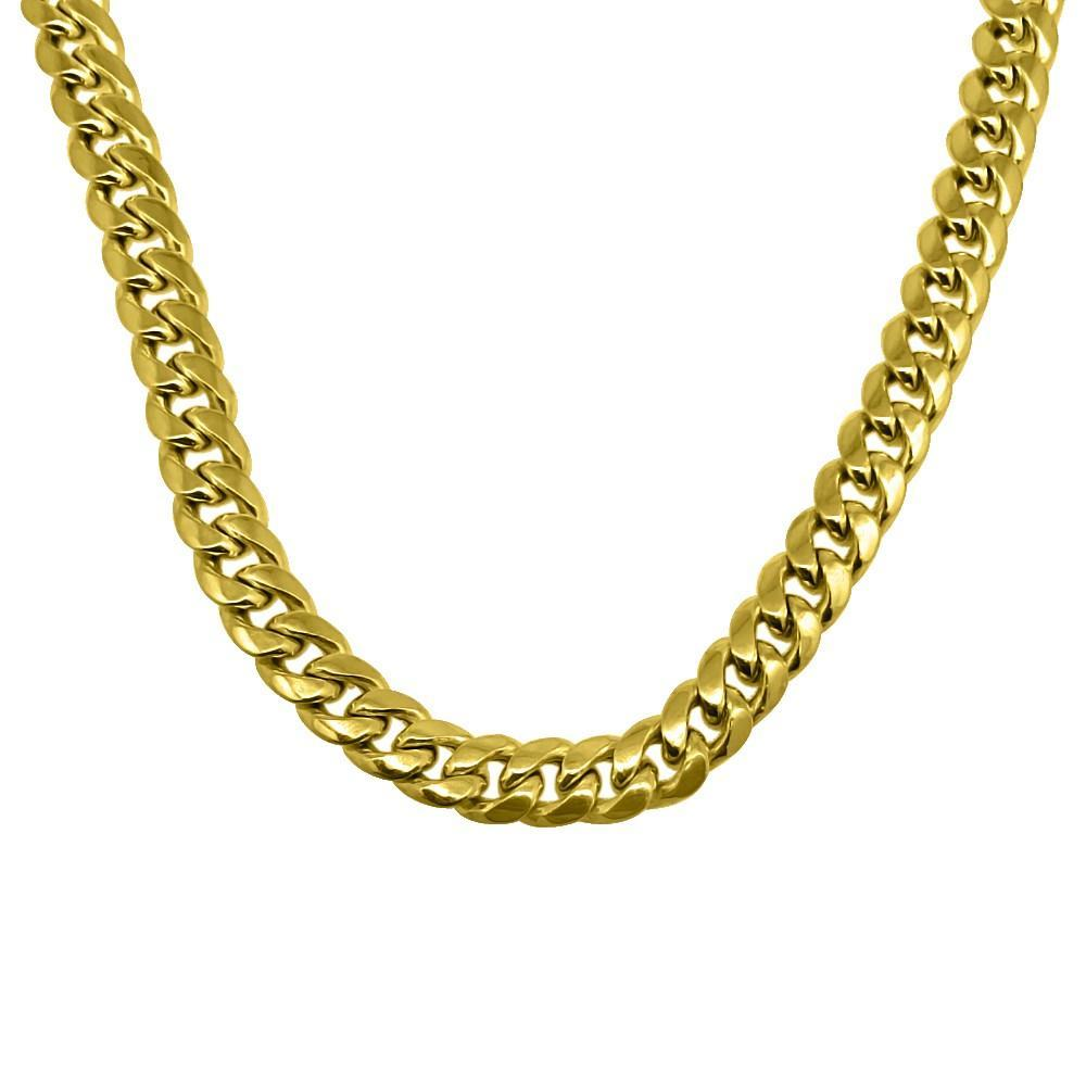 10K Yellow Gold 6MM Miami Cuban Chain