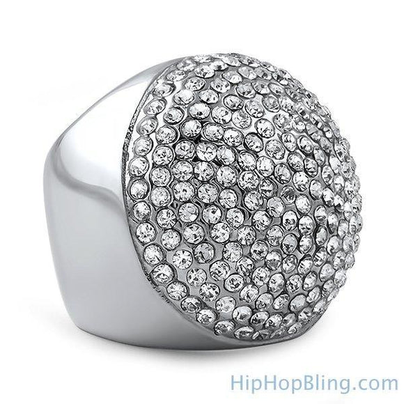 Bling Bling Domed Stainless Steel Ring