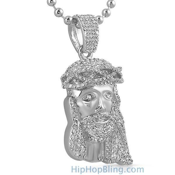 Platinum Style Bling Bling 3D Jesus Piece Over 300 Stones