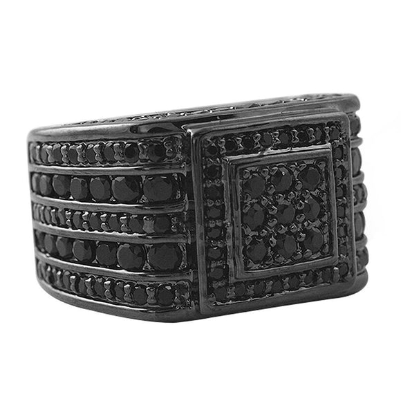 Godfather Black CZ Micro Pave Custom Ring