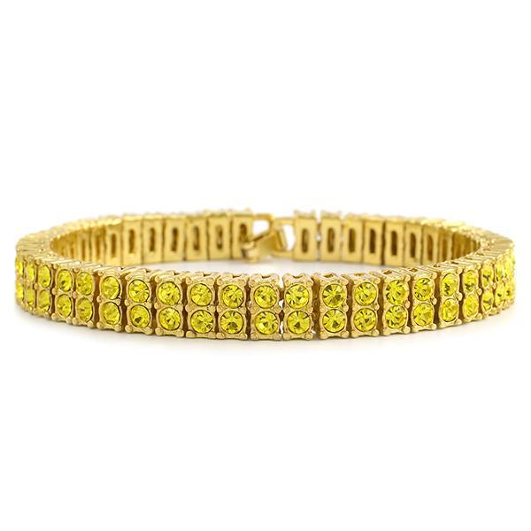Canary Totally Bling 2 Row Bracelet Gold