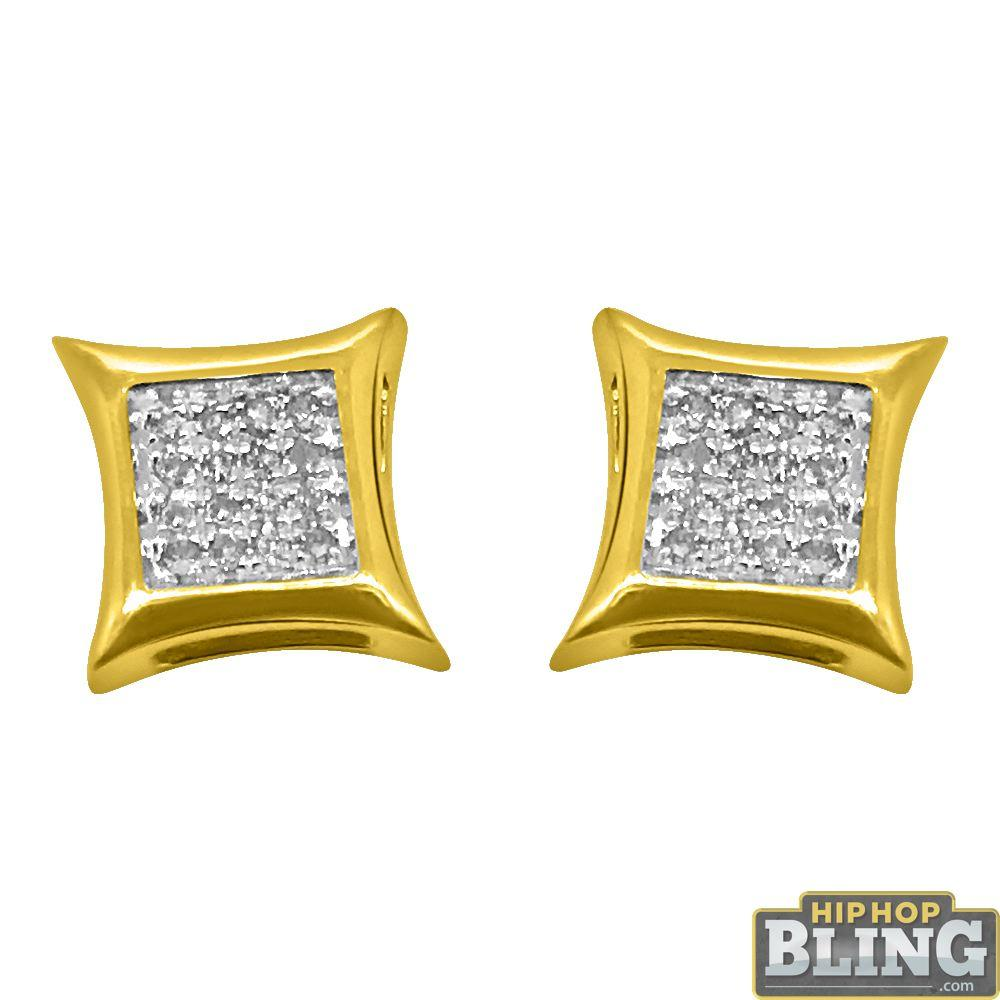 10K Yellow Gold Kite Diamond Earrings