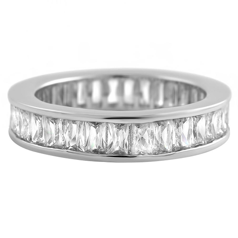 Baguette Eternity CZ Channel Set Bling Bling Ring
