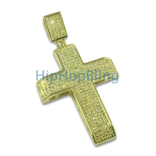Lemonade Tapered Bling Bling Cross Pendant