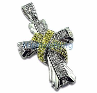 Phat Canary X Cross Rhodium Hip Hop Pendant