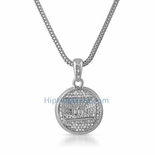 The Last Supper Rhodium Pendant & Chain Small