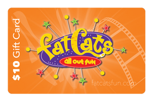 $10 FatCats Gift Card