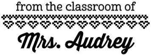 Audrey Teacher Stamp