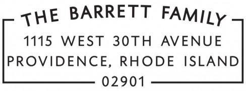 Barrett Personalized Self Inking Rectangle Return Address Stamp