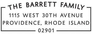 Barrett Rectangle Personalized Self Inking Return Address Stamp