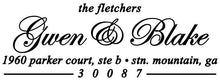 Fletcher Rectangle Personalized Self Inking Return Address Stamp