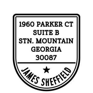 James Personalized Self-inking Round Return Address Stamp