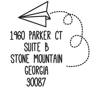 Paper Personalized Self-inking Round Return Address Stamp