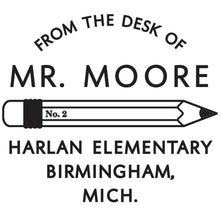 Pencil Personalized Self-inking Round Return Address Stamp