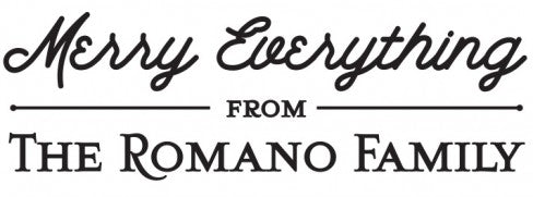 Romano Holiday Rectangle Personalized Self Inking Return Address Stamp