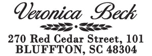 Veronica Personalized Self Inking Return Address Stamp