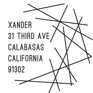 Xander Personalized Self Inking Return Address Stamp
